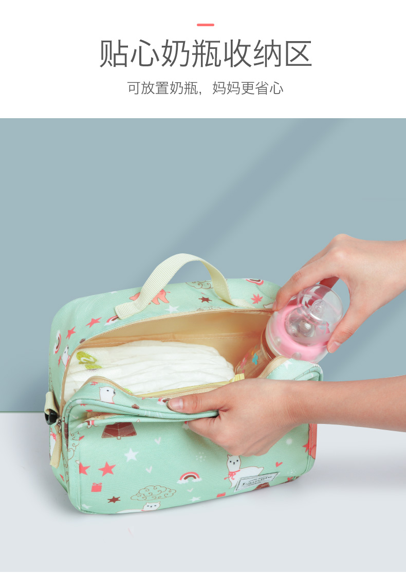 HTB1hd2kbdzvK1RkSnfoq6zMwVXaO Authentic LAND Mommy Diaper Bags Mother Large Capacity Travel Nappy Backpacks with anti-loss zipper Baby Nursing Bags dropship