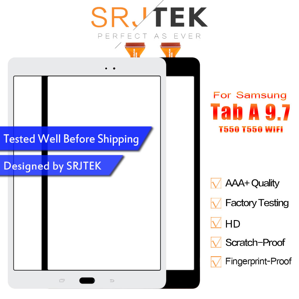 Srjtek For Samsung Galaxy Tab A 9.7 SM-T550 T550 WIFI Touch Screen Digitizer Sensor Panel Glass Tablet PC Replacement Parts