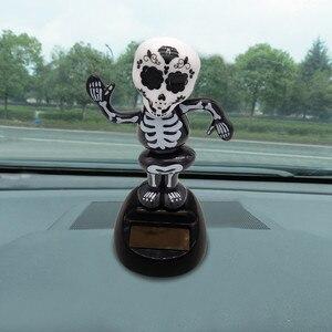 Встряхнутая голова, игрушки, Автомобильные украшения, поплавок, кивок, куклы, холлоуин, Скелетон, воблер, робот, милый, украшение приборной п...