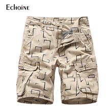 Mens Military Cargo Multi-Pockets Shorts  2019  new Summer Casual work clothes men Short Pants Plus Size Cotton Brand Shorts zipper fly multi pockets cargo shorts