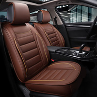 Universal car seat cover leather for Audi a3 a4 b6 b8 a6 a5 q7 car cushion Car Seats Protector Auto Interior styling accessories