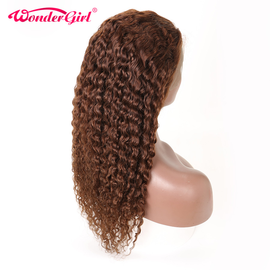 Wonder Girl 13x6 Water Wave Wig Brazilian Hair Glueless Lace Front Human Hair Wigs #2 #4 #1B Pre Plucked Lace Front Wig Remy