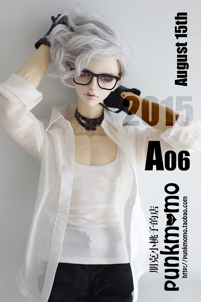 1/3 BJD WIG short  curly  wig  for BJD SD male dollfie fashion white curly fur wig 1 3 1 4 1 6 bjd wigs short wig for diy dollfie