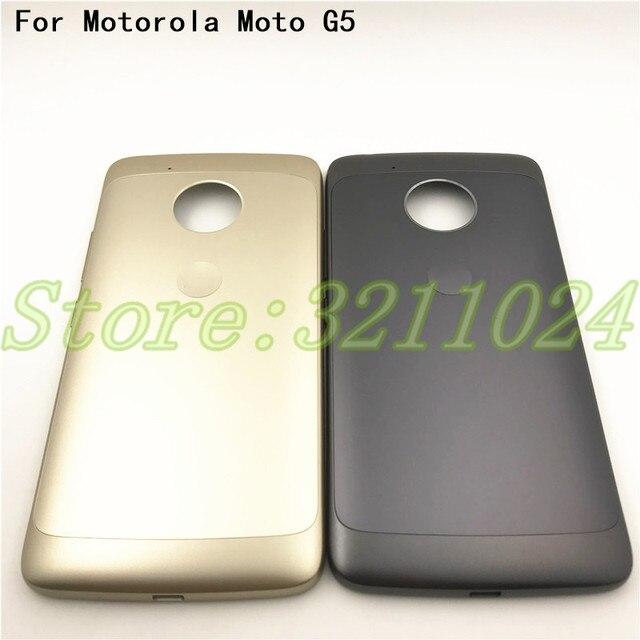 الأصلي XT1685 البطارية عودة غلاف لهاتف motorola moto G5 XT1685 XT1672 غطاء البطارية الخلفي حالة الإسكان مع شعار