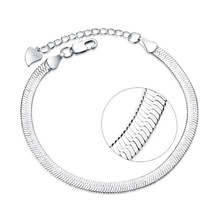100% 925 sterling silver fashion snake chain ladies`bracelets women jewelry female bracelet birthday gift girl drop shipping