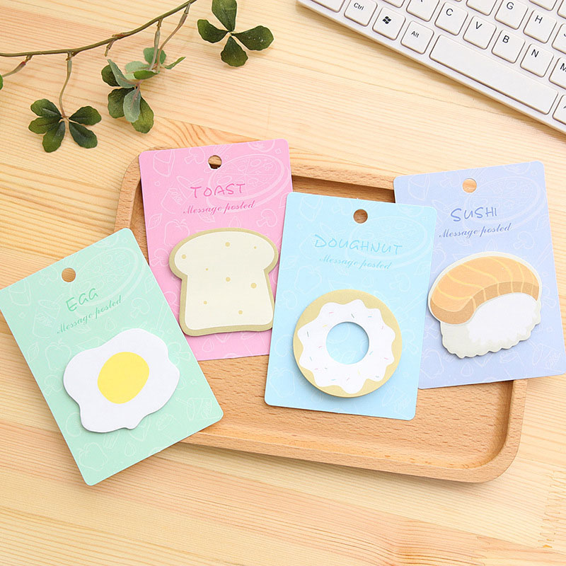 Cute Kawaii Egg Donuts Memo Pad Post It Note Creative Toast Sushi Sticky Paper Korean Stationery Student 3343 cute kawaii egg donuts memo pad post it note creative toast sushi sticky paper korean stationery free shipping 3343