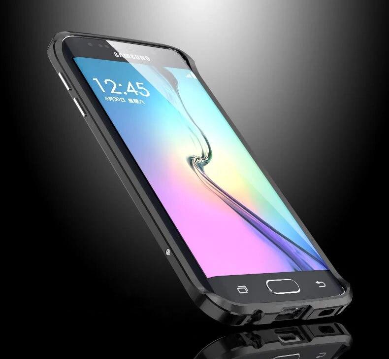bilder für Luxus-stoßkasten Für Samung Galaxy S6 Rand Aluminium Fall Für Samsung S6 Rand SM-G9250 Metallstoßkasten Geschützt Telefon Rahmen