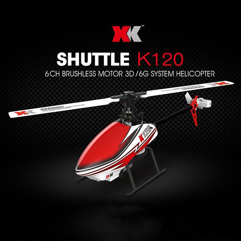 RC Helicopters XK K120 2.4G 6CH 3D / 6G System Flybarless Brushless Motor Ready to Fly R ...