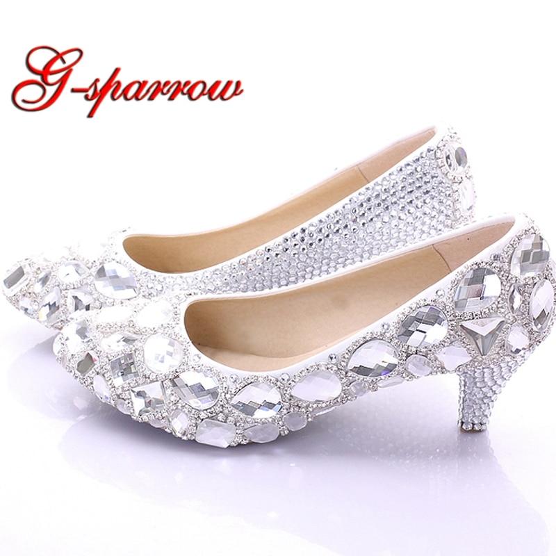 Silver Pumps 2 Inch Heel