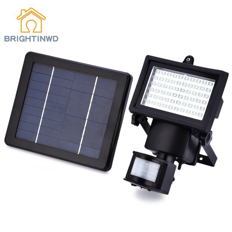60 LEDs Solar Light IP65 Outdoor Solar Power Lamp Garden Lights PIR Body Motion Sensor Solar Floodlights Spotlights Lamp