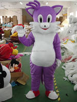 Adult purple cat mascot costume fancy dress costumes animal costume kids party costumes for Halloween
