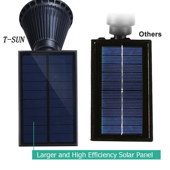 T-SUNRISE Solar Powered 4/7 LED Lamp Adjustable Solar Spotlight In-Ground IP65 Waterproof Landscape Wall Light Outdoor Lighting 4