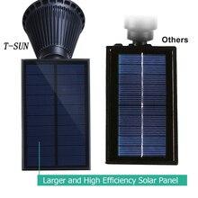 T-SUNRISE Solar Powered 4/7 LED Lamp Adjustable Solar Spotlight In-Ground IP65 Waterproof Landscape Wall Light Outdoor Lighting