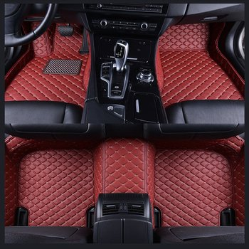5 Seat Flash mat leather car floor mats For BMW X5 F15 2014 2015 2016-2018 auto foot Pads automobile carpet cover Waterproof