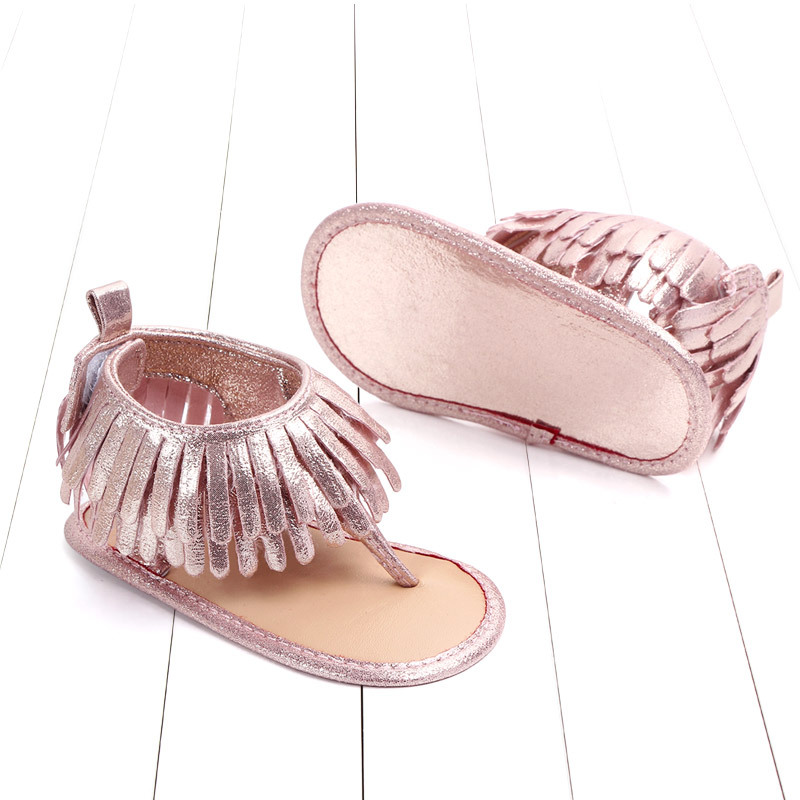 Baby comfortable sandals 2018 summer new boy girls beach shoes kids casual sandals children fashion Baby Girl Tassel Sandals (9)