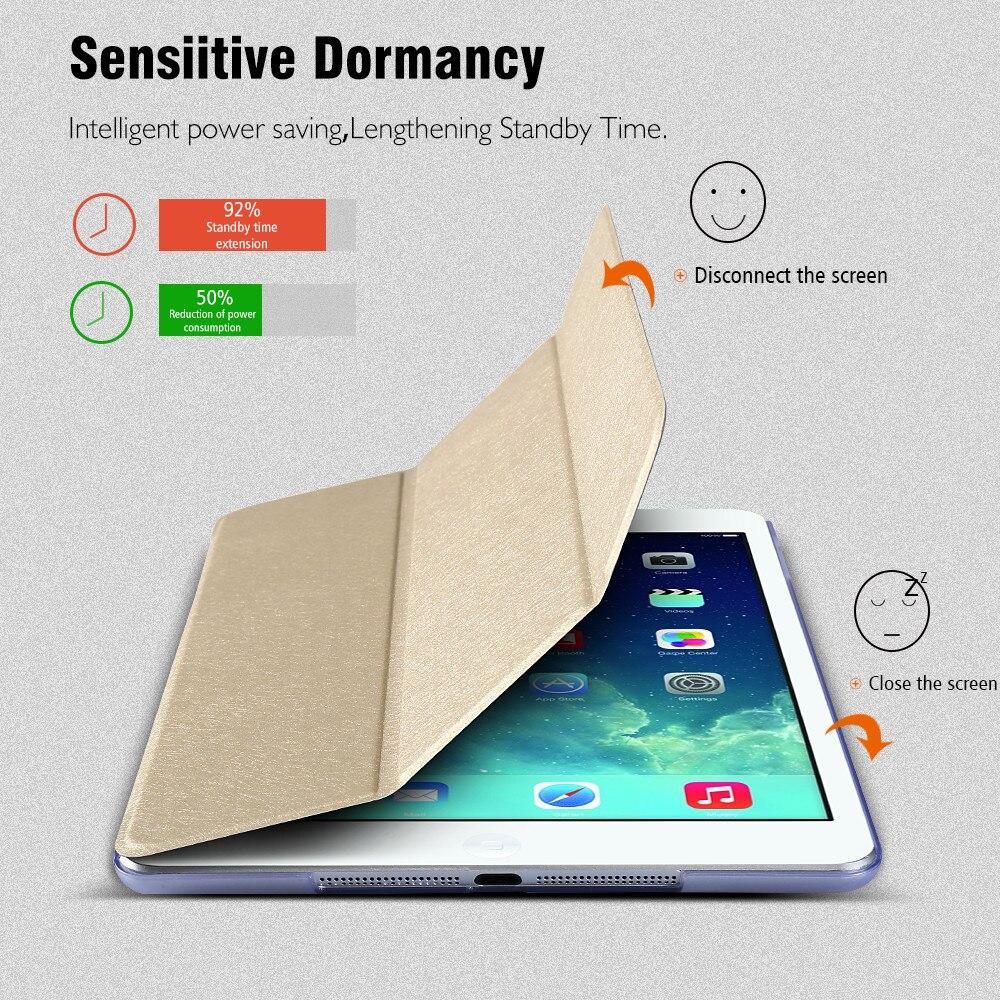 KISSCASE Luxury Foldable Leather Case For iPad Mini Protective Shell Skin Case Cover For iPad Mini