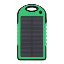 New Solar Power Bank 5000mAh Portable battery Charger powerbank Travel External Battery Poverbank for Xiaomi  mi6 iphone8 x