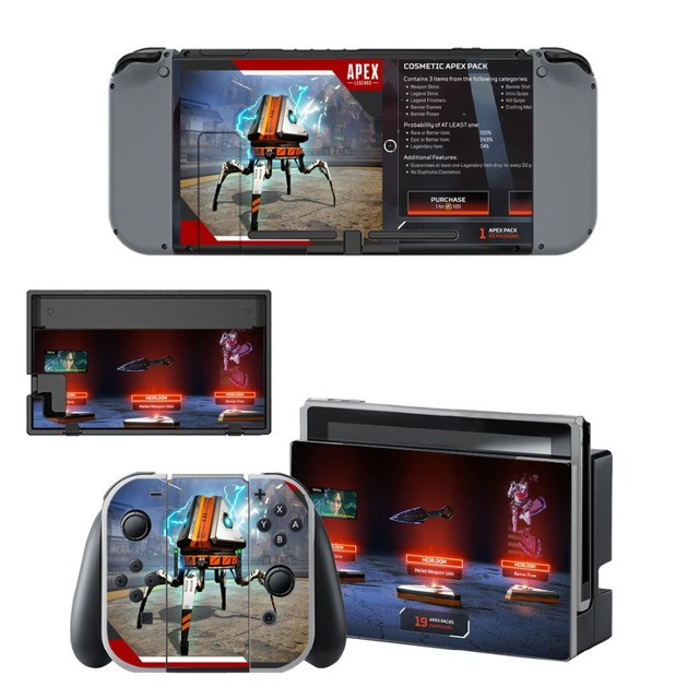 Nintend Switch apex legends Skin vinilo NintendoSwitch stickers Compatible with Nintend Switch Console and Joy-Con Controllers