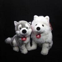 Lifelike Samoyed Stuffed Toys Siberian Husky Plush Toys Simulation Dog Puppy Plush Animals Toy Gifts For Children