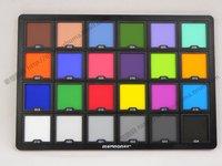 24 paleta de cores profissional da paleta da foto da correção da cor do cartão de teste da cor cd50