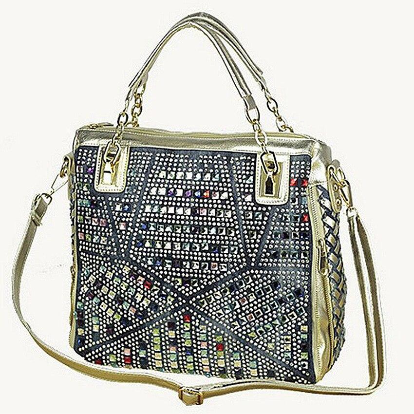 2017 fashion brand luxury bag designer handbags high quality gold diamante woven