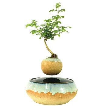 Pot de fleur magnétique lévitation plante en pot flottant air bonsaï 1