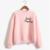 Apenas Peachy Crewneck Camisola Mulheres Inverno Bonito Rosa Impressão Hoody Das Camisolas Das Mulheres Imprimir Hoodies Treino NSW-21593