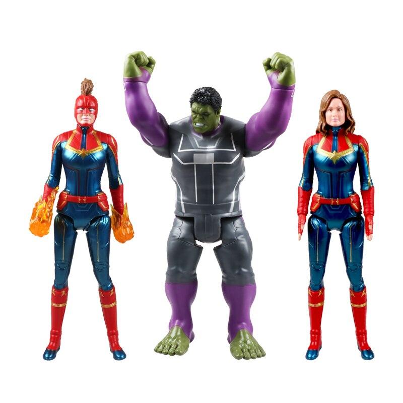 Avengers Action Figures Captain Marvel Carol Danvers Hulk