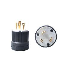 2Pcs UL Twist Lock Electrical Plug Adapter Socket NEMA Generator Plug Converter L5-30 125V 30A  3 Wire Electrical Charger Plug techlink adaptor f plug 5 6mm twist on 2pcs 640902
