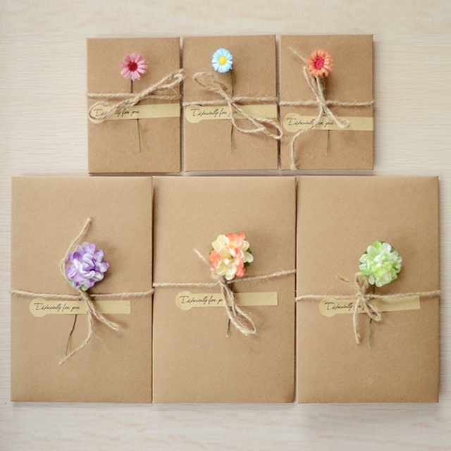 10pcs diy greeting cards word message wishes cards kids gift diy craft cards diy dried flowers - Diy Greeting Cards