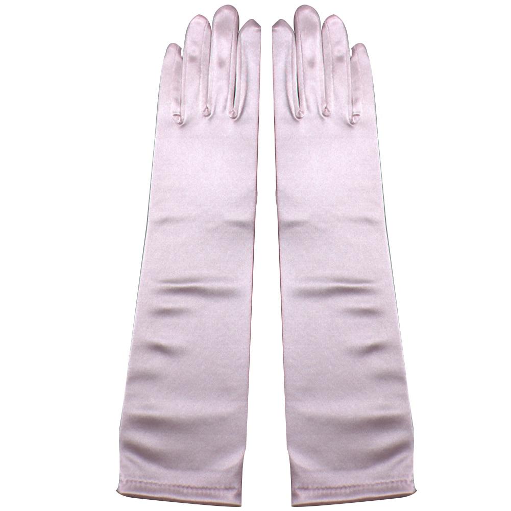 1 Paar 38 Cm Frauen Elegante Oper Satin Handschuhe Ellenbogen Länge Satin Handschuhe Bankett Hochzeit Abend Halloween Phantasie Kleid Party Kosten Verkaufsrabatt 50-70%
