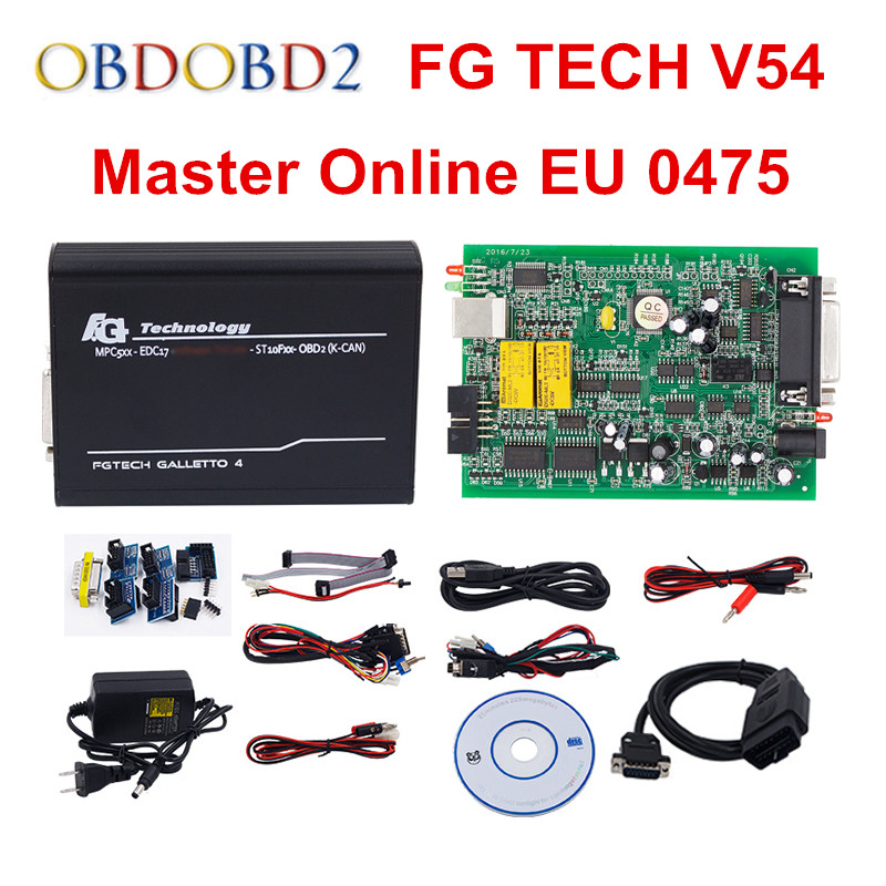 Online Master EU 0475 FGTech V54 Galletto 4 Full Chip Support BDM Full Function Fg Tech V54 Auto ECU Chip Tuning OBD FG-TECH unlimited tokens ktag k tag v7 020 kess real eu v2 v5 017 sw v2 23 master ecu chip tuning tool kess 5 017 red pcb online