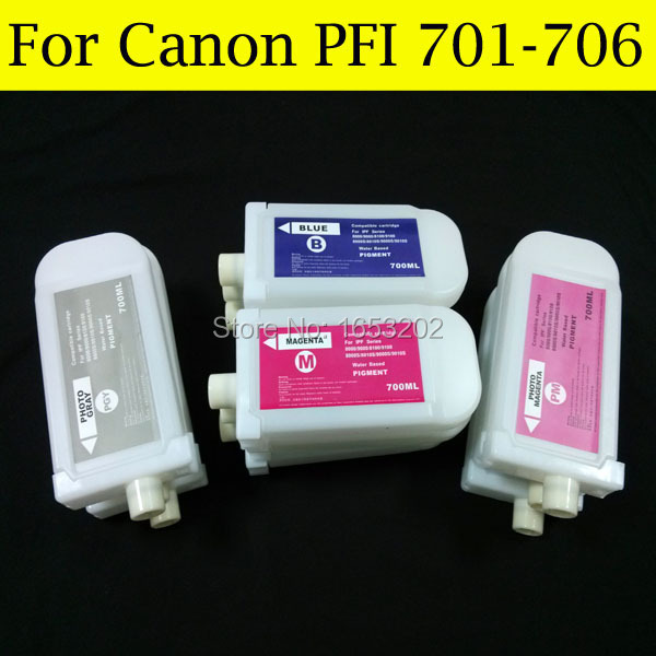 8 Pieces/Lot Empty Ink Cartridge For Canon PFI-706 For Canon iPF9410s iPF940 Printer Without Chip pgi1600 xl for canon ink cartridge for canon pgi1600 empty ink cartrige with chip mb4060 mb2060 mb2360 printer ink box