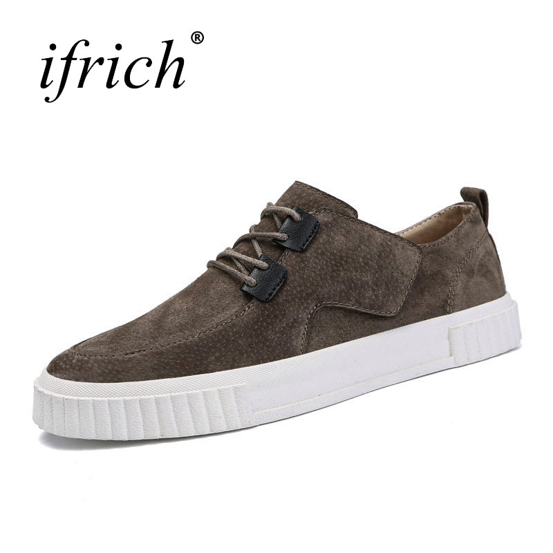 2018 Spring Summer Pig Suede Luxury Sneaker for Men Comfortable Man Fashion Flat Shoes Lace Up Men Casual Walking Footwear spring summer casual mesh shoes lovers flat shoes lace up breathable footwear female vintage sneaker trainers sapatos masculino