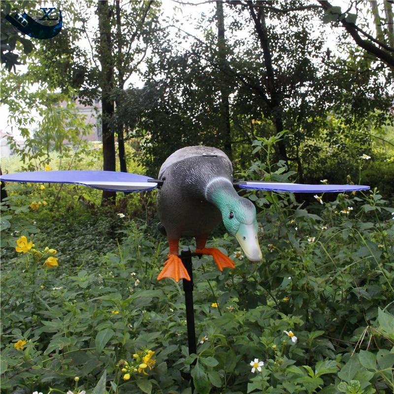 ФОТО Xilei Outdoor Duck Hunting Plastic Duck Decoys Green Head Decoys Dc 6V Remote Control Duck Hunting Decoys