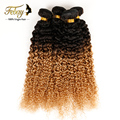 Malaysian Virgin Hair 3pcs Kinky Curly Virgin Hair Unprocessed Ombre Hair Extensions Febay  Hair Products Mongolian Kinky Curly