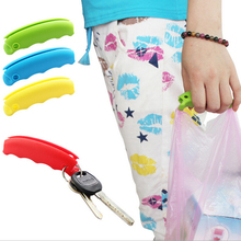 1PCS Colorful Bag Carrying Handle Tools Silicone Knob Relaxed Carry Shopping Handle Bag Clips Handler Kitchen Tools