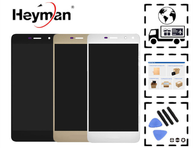 US $27 99 |Heyman LCD for Huawei Y5 (2017),Y5 III MYA U29 LCD Display with  Touch Screen Digitizer Glass Replacement Part (with touchscreen)-in Mobile