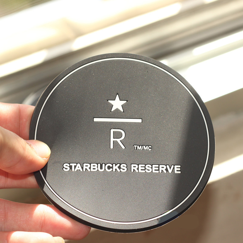 8 5cm Free Shipping Starbucks Reserve Logo Silicone Black