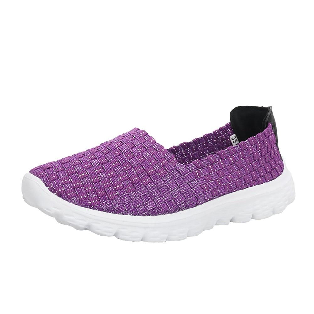 Flip Casual Flops Plates Chaussures Femme Sur La Mint purple Mode Plage De Soulier Plate pink Femmes 2018 forme Tissé Green Sandales Respirant 5ETqYvPnY
