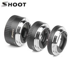 اطلاق النار شمعدان معدني أحمر TTL التركيز التلقائي الماكرو تمديد أنبوب الدائري لكانون 600D 550D 200D 800D EOS EF EF-S 6D ل كانون ملحقات الكاميرا