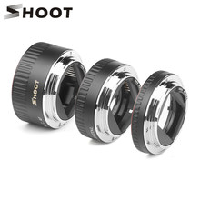 SHOOT Red Metal TTL Auto Focus Macro Extension Tube Ring for Canon 600d 500d 80d EOS EF EF-S 60D For Canon Camera Accessory(China)