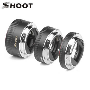SHOOT Red Metal TTL Auto Focus Macro Extension Tube Ring for Canon 600D 550D 200D 800D EOS EF EF-S 6D for Canon Camera Accessory - DISCOUNT ITEM  26% OFF All Category