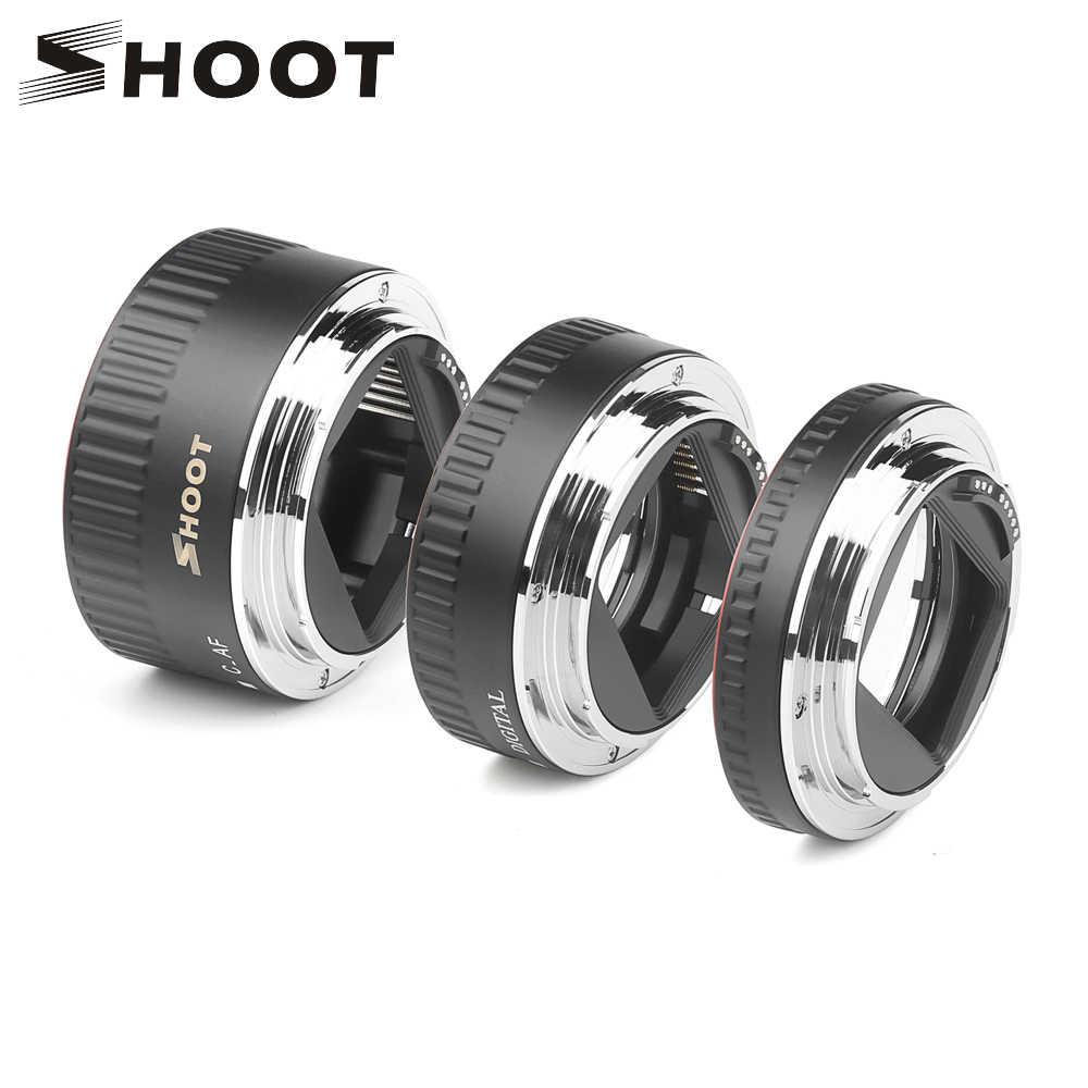 تبادل لاطلاق النار شمعدان معدني أحمر TTL التركيز التلقائي ماكرو تمديد أنبوب الدائري لكانون 600D 550D 200D 800D EOS EF EF-S 6D لملحقات كاميرا كانون