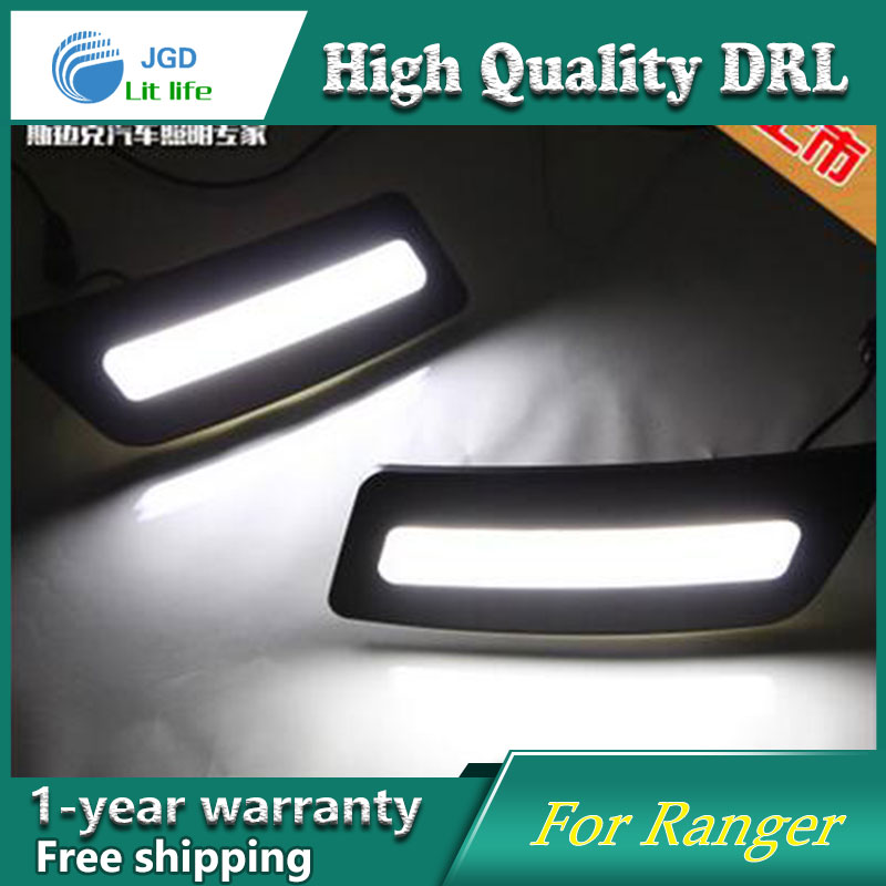 Free shipping !12V 6000k LED DRL Daytime running light case for Ford Ranger 2012-2015 fog lamp frame Fog light Car styling free shipping 12v 6000k led drl daytime running light case for peugeot 508 fog lamp frame fog light car styling