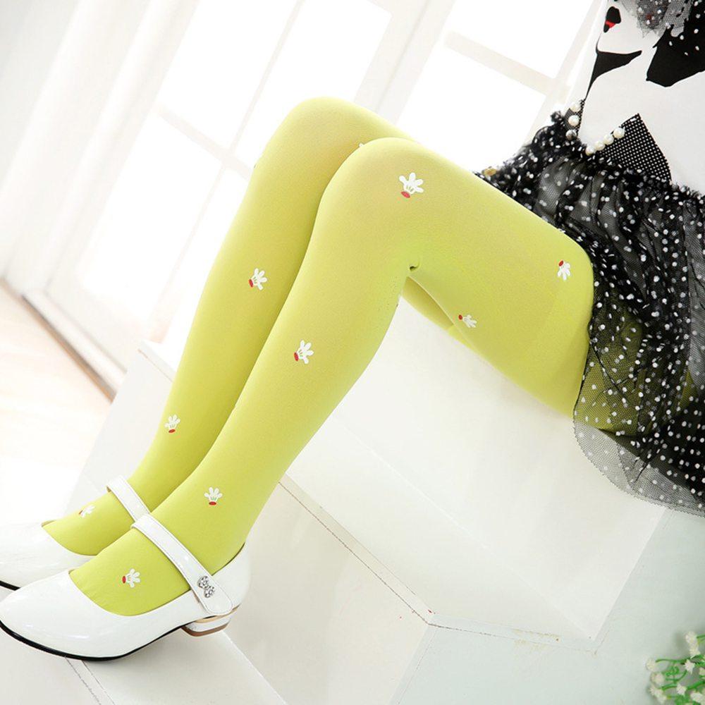 Shiny Gleamy Leggings For Girl Kids Spring Summer Autumn Slimming Leggings High Elasticity Pinky Color Girls Long Stockings