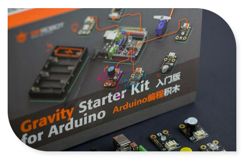 DFRobot Gravity Starter Kit, include DFRduino UNO R3 + IO expansion shield + 12 sensors for Arduino beginners and makers kitlee40100quar4210 value kit survivor tyvek expansion mailer quar4210 and lee ultimate stamp dispenser lee40100