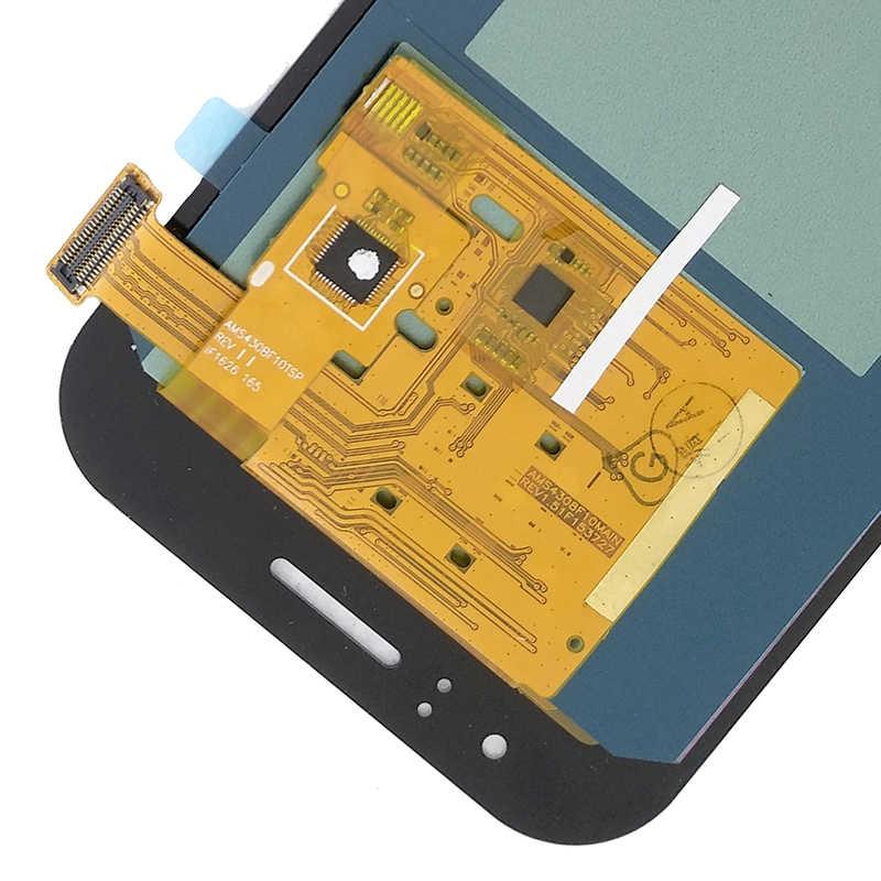 سوبر AMOLED J110 شاشة الكريستال السائل لسامسونج غالاكسي J1 الآس J110 J110F J110H شاشة الكريستال السائل عرض مجموعة المحولات الرقمية لشاشة تعمل بلمس ل