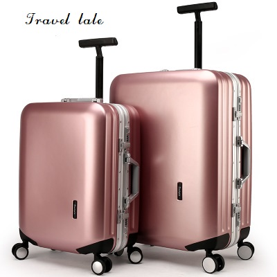 Travel tale durable and contracted PC 20/22/24/26 inches Rolling Luggage Spinner brand Travel Suitcase business travel Luggage travel tale new fashion contracted rolling luggage spinner brand travel suitcase 20 22 24 26