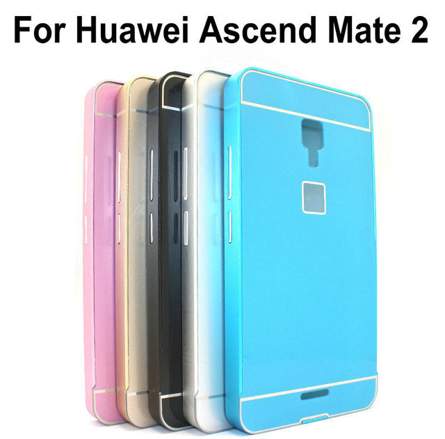 free shipping 71c3a 645ae US $8.99 |Mate2 Fashion Slim Acrylic Back Cover + Aluminum Metal Frame Case  For Huawei Ascend Mate 2 4G on Aliexpress.com | Alibaba Group